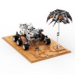 Refurbished Mars Perseverance Rover and Landed Scene