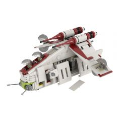 Refurbished MOC-35919 Republic Gunship based set