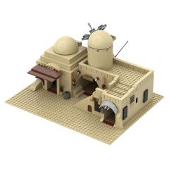 Refurbished MOC-45639  Tatooine Double Building (Slums)