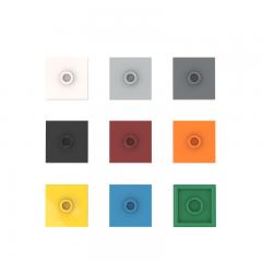 PLATE 2X2 W 1 KNOB #87580 Bright Light Orange