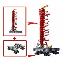 NASA Saturn-V Launch Umbilical Tower + Crawler-Transporter