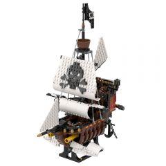 Refurbished MOC-53448 31109 Sky Pirates Skeleton Ship Building Kits