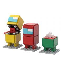 Refurbished MOC-58065 Among Us BrickHeadz Building Kits