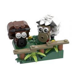 Refurbished MOC-44733 Sheep (Peace and Love)Building Kits