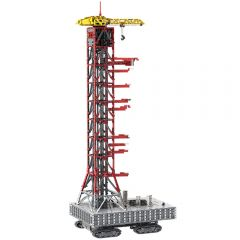MOC-60088 Launch Tower Mk I for Saturn V with Crawler Alternative Build of LEGO Set 21309/92176