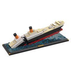 Refurbished MOC-51466 Titanic Sinking Scene