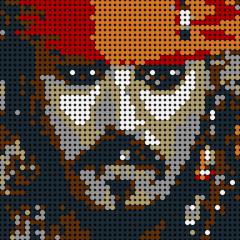 Pirate Captain Pixel Art