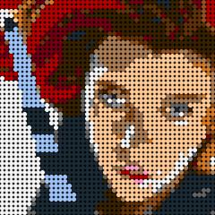 Black Widow Pixel Art