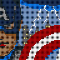 Captain America Pixel Art