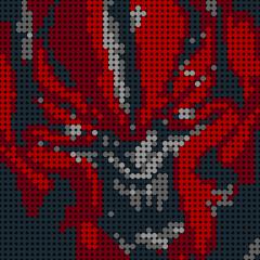 Red Spider-Pixel art