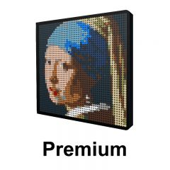 Girl with a Pearl Earring Pixel Art Upgraded Version