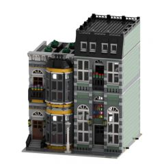 MOC-42028 Yellow and Green Modular Homes