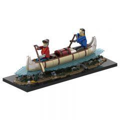 MOC-39640 Voyageurs Automaton - Paddling a Cano