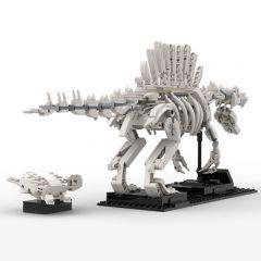 MOC - 47343 Spinosaurus Skeleton + Sea Turtle - Alternative Build for 21320 Dinosaur Fossils