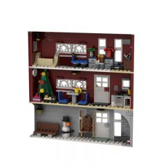 MOC-40108 Winter Village Fireman's home in Photo Frame