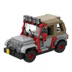 MOC-48461 Jurassic Park Staff Jeep with Soft Top