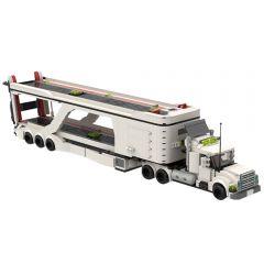 MOC-50003 LT 3 Car Transport Big Rig Truck