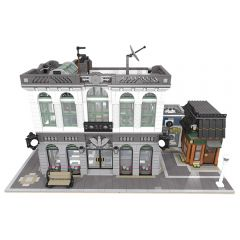 MOC-10811 Brick Bank with Coffee Shop