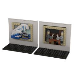 MOC-51794 3D Mini Masterpiece - The Great Wave Off Kanagawa & The Card Players