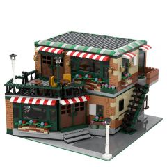 MOC-54894 Modular Central Perk Cafe & Pub Alternative Build of LEGO Set 21319-1