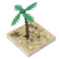 MOC-33476 Desert environment for a Modular Desert village