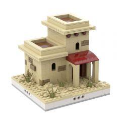 MOC-33394 Desert House #9 for a Modular Desert village