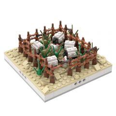 MOC-32627 Herd of sheep for a Modular Desert village