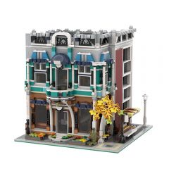 MOC-36027 Libra Caf?? (10270 Bookshop Alternate Model Modular)
