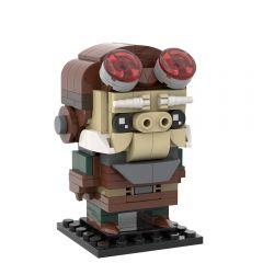 MOC-35498 The Mandalorian - Kuiil Brickheadz