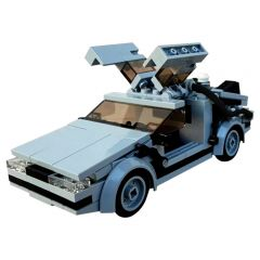 MOC-23436 Delorean from BACK TO THE FUTURE in minifig scale
