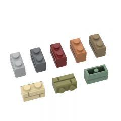 Profile brick 1x2 single gro. #98283