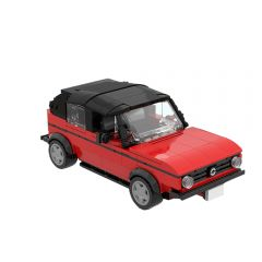 MOC Penny's Car - the red VW Golf 1 Cabrio from Big Bang Theory