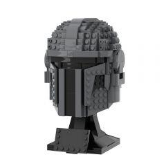 MOC-40959 Mandalorian Helmet Statue MOC