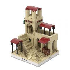 MOC-32535 Desert House #1 for a Modular Desert village