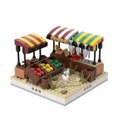 MOC-32540 Desert Street market for a Modular Desert village