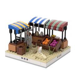 MOC-32625 Desert Street market #2 for a Modular Desert village