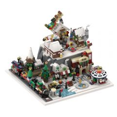MOC-56563 Winter Wonderland - Winter Village Architecture