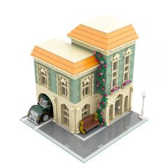 MOC-57981 Modular Post Office + Delivery Car