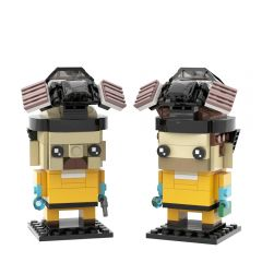 MOC-22534 Breaking Bad Brickheadz Collection - Walter White & Jesse Pinkman