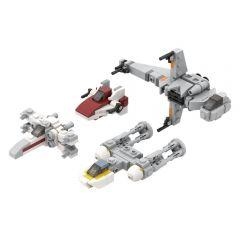 MOC-32286 Micro Rebel Starfighters - Original Trilogy