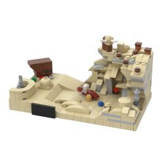 MOC-43615 Micro Tatooine, A New Hope (20th Anniversary Style)