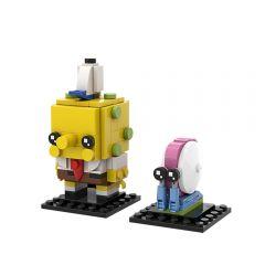 MOC Spongebob & Gary Brickheadz
