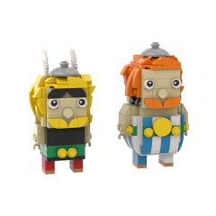 MOC Asterix and Obelix Brickheadz