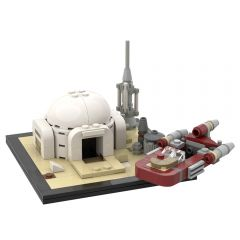 MOC-61032 Luke Skywalker' hut and speeder on Tatooine