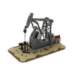 MOC Functioning Oil Pump Jack (Oil Derrick)