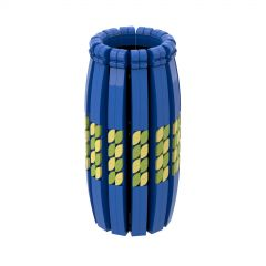 Vase Blue Compatible with LEGO Flower Bouquet #10280, #40461, and 40460