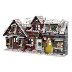 MOC three little winter houses