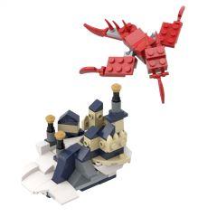 MOC 31088 Micro castle and dragon