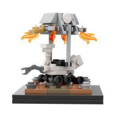 MOC Curiosity/ Perseverance rover + Sky Crane [1:110 scale]