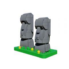 MOC Moai (Easter Island statues)